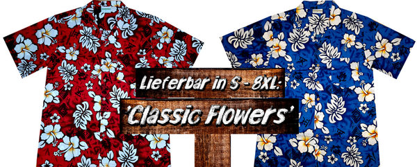 "Hawaiihemd / Hawaii Hemd ""Classic Flowers"""