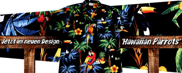 "Hawaiihemd / Hawaii Hemd ""Hawaiian Parrots 2.0"""