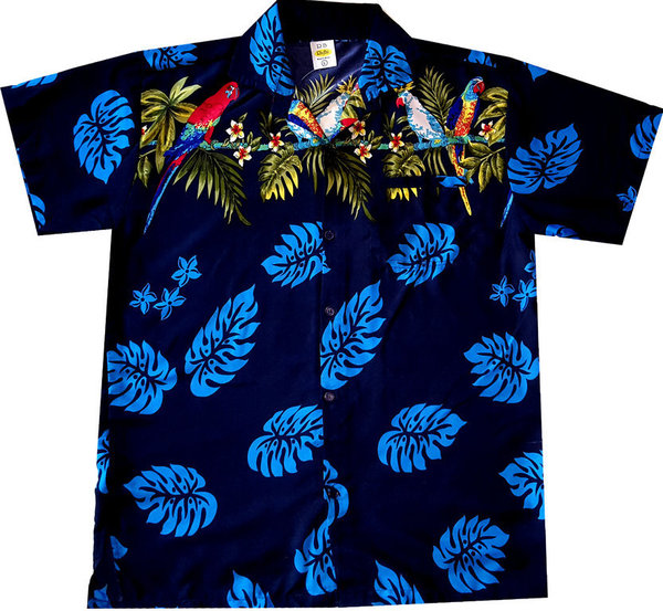 """Parrots of Hawaii (blue)"" - Größe M - XL"
