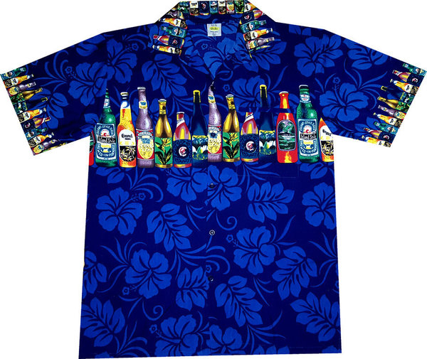 """Hawaiian Beer (dark blue)"" - Größe S"